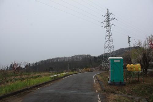 今年は「花の谷コース」にも仮設トイレが設置されました