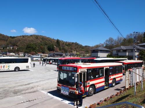 140415 福島県福島市花見山公園の情報 バス乗り場