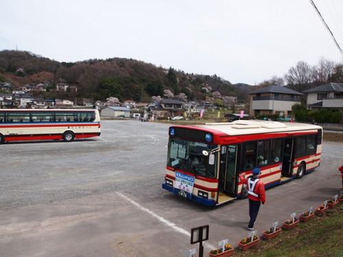 160408 福島県福島市花見山公園の情報 シャトルバス