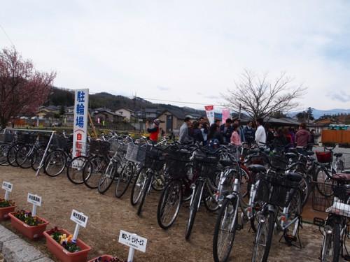 60408 福島県福島市花見山公園の情報 駐輪場
