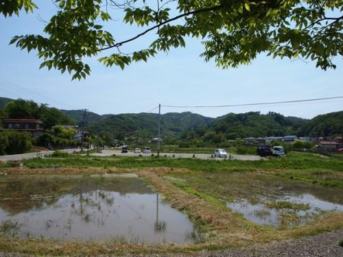 150519 福島県福島市花見山公園の情報 水飲み場裏からの眺め
