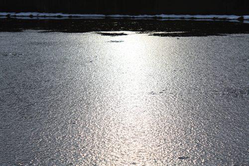 福島県福島市 花見山公園の情報2018年1月5日 氷 180105H9857