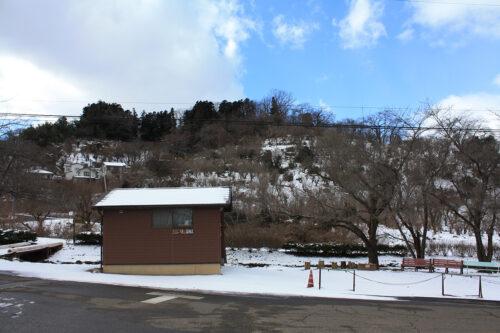 福島県福島市花見山公園2021年1月20日画像。案内所